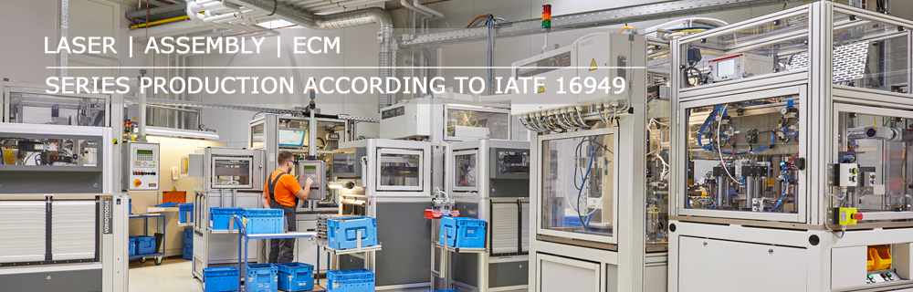 automated laser hardening machines in in-house series production